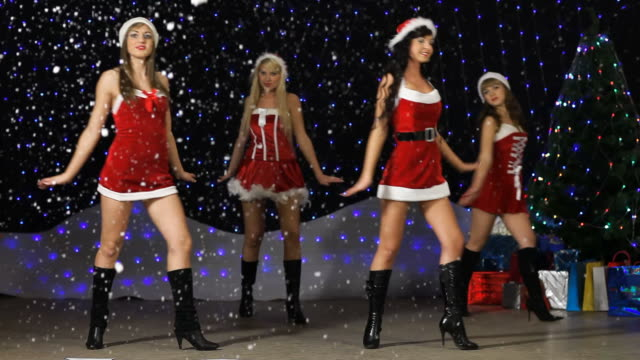 Sexy Santa Helper's dancing and showing number 2010 video