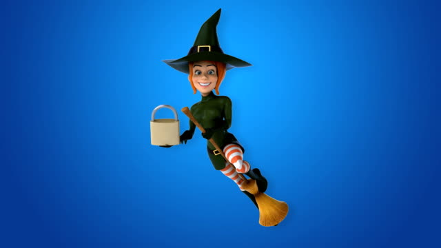 Sexy witch - 3D Animation video
