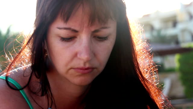 Sexy Woman Flirting on a Sunny Beach, Wears Sunglasses At Summer Resort video