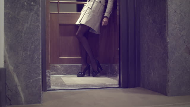 Sexy Woman in elevator video