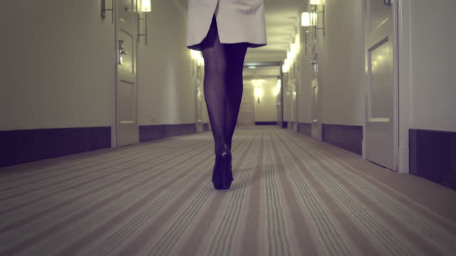 Sexy Woman in hallway video