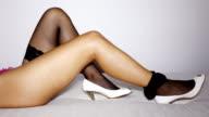 sexy woman´s leg video