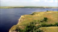 shadehill reservoir - Aerial View - South Dakota,  Perkins County,  United States video