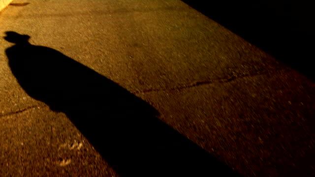 Shadow Man walking color video