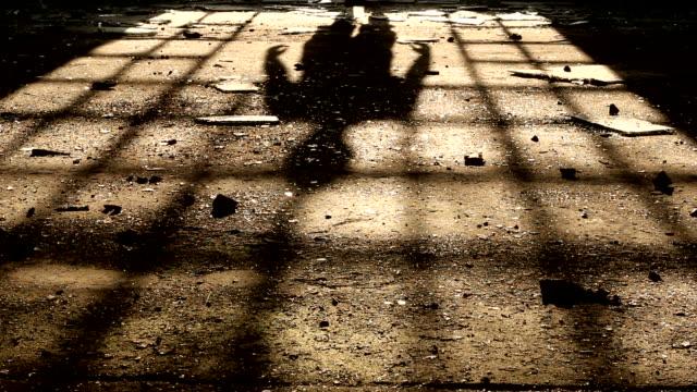 shadow of a man walking video
