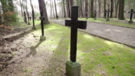Shadow of the cross on the cemetery video