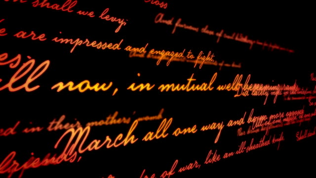 Shakespeare poetry background video