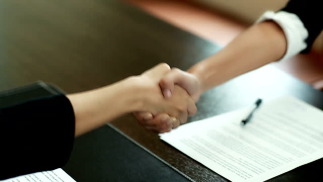 Shaking Hands After Signed papers video