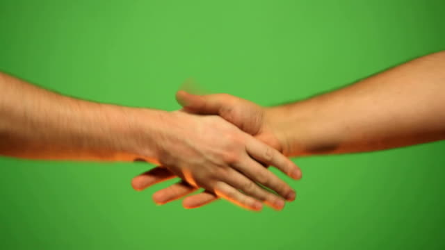 HD: shaking hands of friends video