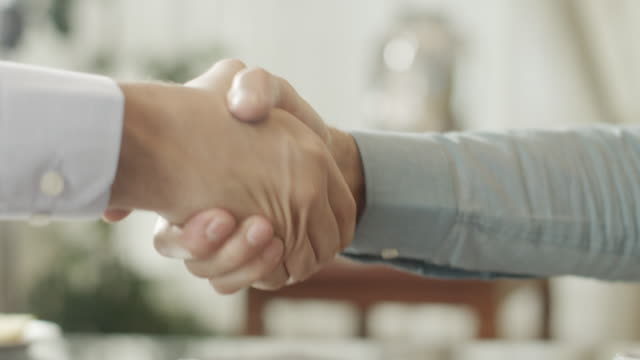 Shaking hands video
