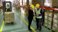 Shaking Hands With Warehouse Manager video