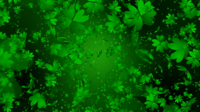 Shamrock four leaf Clover Infinity Loop video