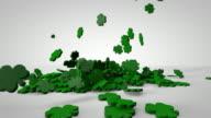 Shamrocks Falling on White video