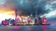 Shangahi skyline  cityscape China Time lapse video