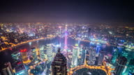 Shanghai aerial view time lapse zoom in video