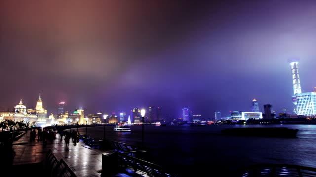 Shanghai at night video