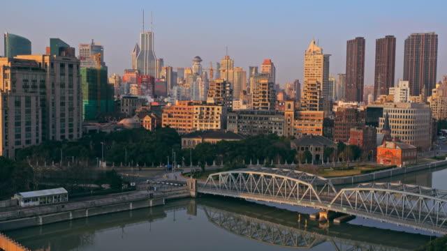Shanghai Bund medieval garden bridge video