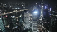 Shanghai city at night, China video