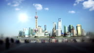 Shanghai city skyline video