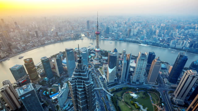 Shanghai, Day to Night, Time Lapse. video