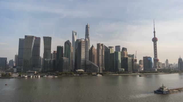 T/L WS HA Shanghai Lujiazui Financial District / Shanghai, China video