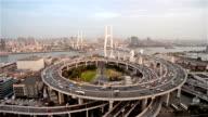 Shanghai Nanpu Bridge at Dusk - Timelapse video