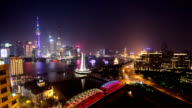 T/L Shanghai nightscape video