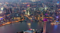 Shanghai Oriental Pearl Tower and CBD at sunset video