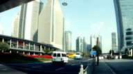 Shanghai pudong area traffic video