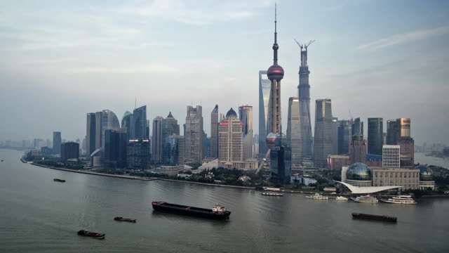 Shanghai Pudong day to night HD timelapse. China video