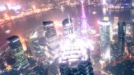 shanghai pudong in night video