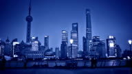 Shanghai Pudong viewed from the Bund, China. video