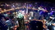 Shanghai Skyline Aerial view video