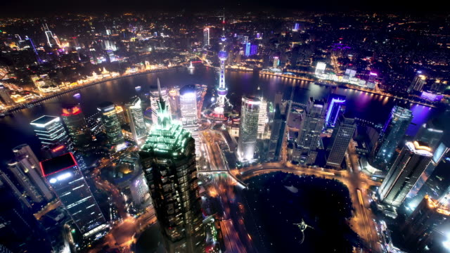 Shanghai Skyline Aerial view video