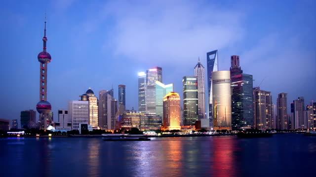 Shanghai Skyline at Dusk video