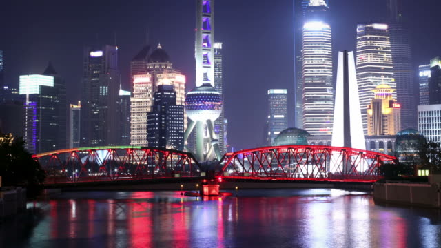 Shanghai Skyline at Night video