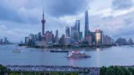 Shanghai Skyline day to Night video