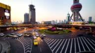 shanghai skyline timelapse video