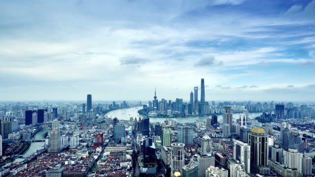 Shanghai Skyline (Time-lapse, Zoom In) video