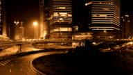Shanghai Skyscraper at night video