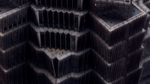 Shanghai skyscrapers from above video