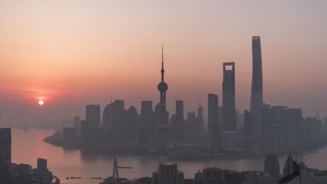 T/L WS HA PAN Shanghai Sunrise / Shanghai, China video