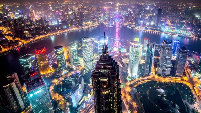 Shanghai timelapse at dusk video
