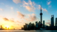 shanghai with sunset video
