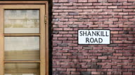 Shankill Road street sign. The world's most famous street of Shankill Road in Belfast. video