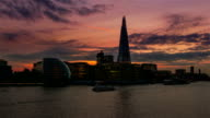 Shard and City Hall Evening Timelapse video