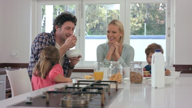 Sharing smiles over breakfast video
