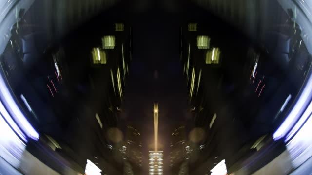 Sharp abstract POV through cityscape - 1080p video