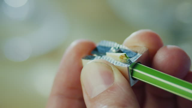 Sharpening a Pencil. Close-up video