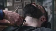Shaving at Barbershop video